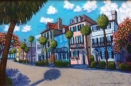 """East Bay Houses""   Acrylic   24""x36"""