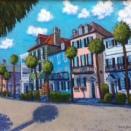 """East Bay Houses"" | Acrylic | 24""x36"""