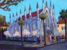 """Huguenot Church, Charleston, SC""   Acrylic   18""x24"""