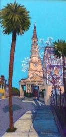 """St. Philips Church, Charleston, SC"" | Acrylic | 36""x18"""