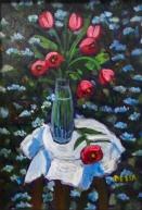 """Tulips - Still Life""   Acrylic   7""x5"""